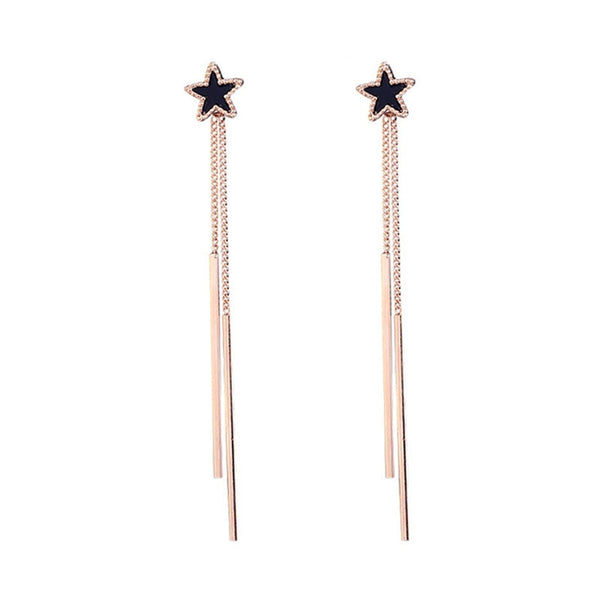 Star Tassel Bar Drop Earring