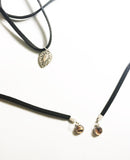 Leather Choker with Shell Pendant Necklace