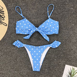 Polka Dot Two Piece Push Up Bikini