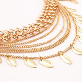 Golden Shimmy Leaf  Waist Chain