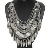 Ethnic Tribe Inspired Tassel Necklace