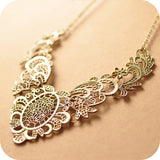 Bronze Floral Collar Necklace