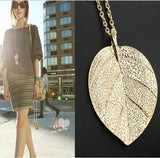 Golden Leaf Pendant Necklace