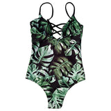 Green Tropic  One Piece Swimsuit