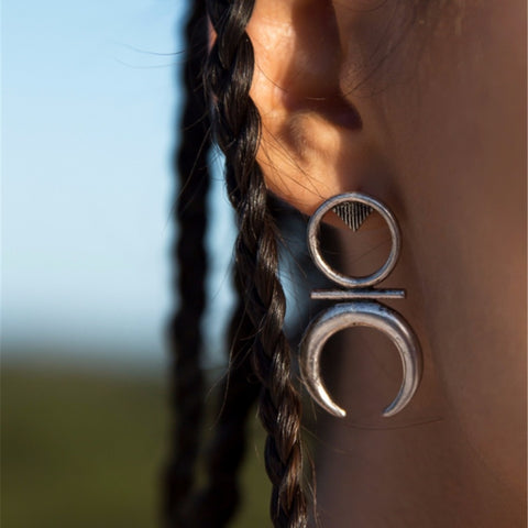 Cresent Moon Dangle Earrings
