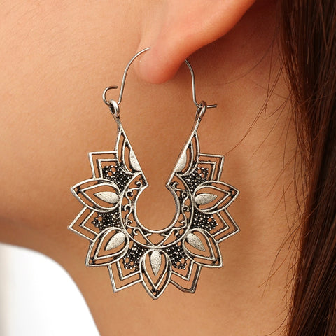 Mandala Dangle Drop Earring