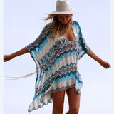 Baha Blue Crochet Beach Cover Up