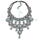 Crystal Bib Charm Necklace
