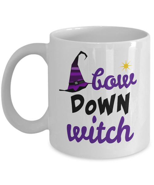 Bow Down Witch Halloween Coffee Mug