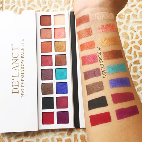 DE'LANCI 16 COLORS PRO EYESHADOW PALETTE MULTI-COLOR COLLECTION FOR SEASON