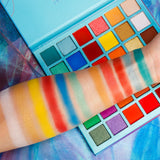 DE'LANCI Beauty Artistry Palette 36 Colors Rainbow Eyeshadow Palette Pigmented Neon Powder Bright Vibrant Colors Shades