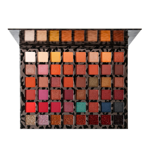DE'LANCI Pro Warm Nude Eyeshadow Palette 48 Colors the Leopard Book of Cat Eyes