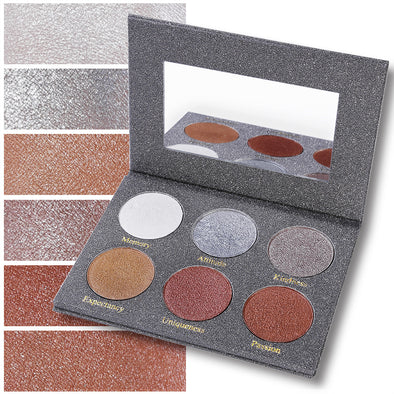 DE'LANCI 6 Color Putty Highlighter Palette Makeup Kit