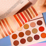 DE'LANCI New Nude NEUTRAL Eyeshadow Palette 15 Colors Nudes Warm Eye Shadows