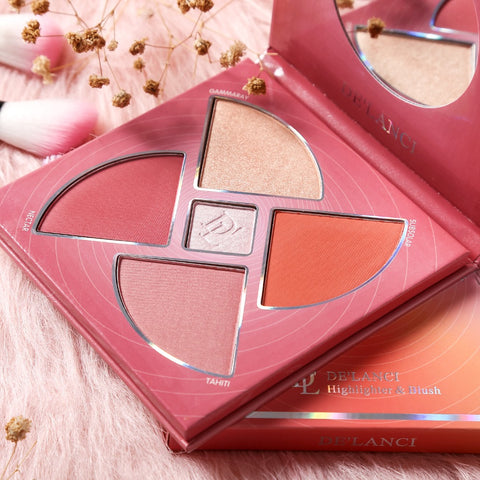DE'LACNI Blush and highlighter Palette Face Makeup Cosmetics Kit - DE'LANCI
