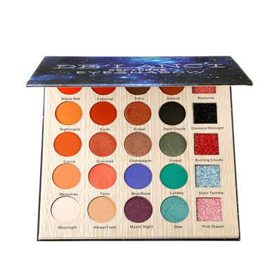 DE'LANCI Nocturne Eyeshadow Pallete Professional 25 Colors Eye Make up Palette Matte Glitter