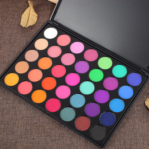 DE'LANCI 35 Bright Colors Matte Shimmer Eyeshadow Makeup Pallete - DE'LANCI