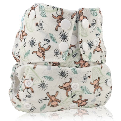 Copy of Bam+Boo Sleeve Nappy - Monkey