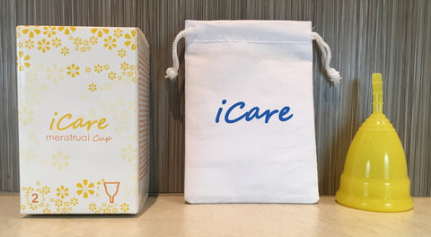 iCare Menstrual Cup Size 2 Yellow