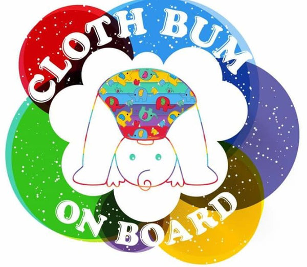 Cloth Bum on Board Car sticker