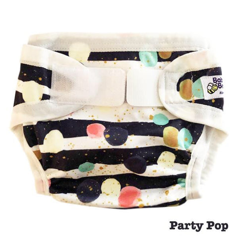 Baby BeeHinds PUL cover - Party Pop - Large
