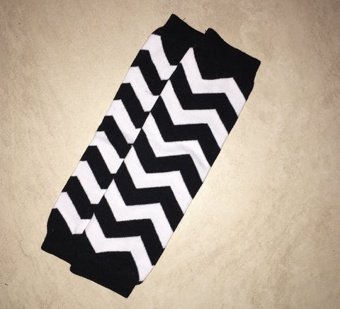 Leg warmers Black chevron
