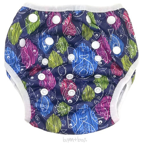 Bam+Boo Swim Nappy - fish
