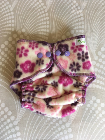 Tomfips Fleece cover Newborn - Flowers