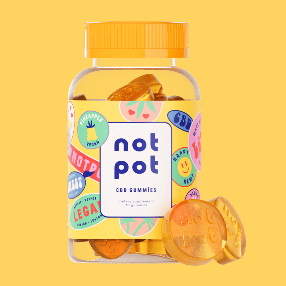 Not Pot Vegan CBD Gummies (Pineapple)