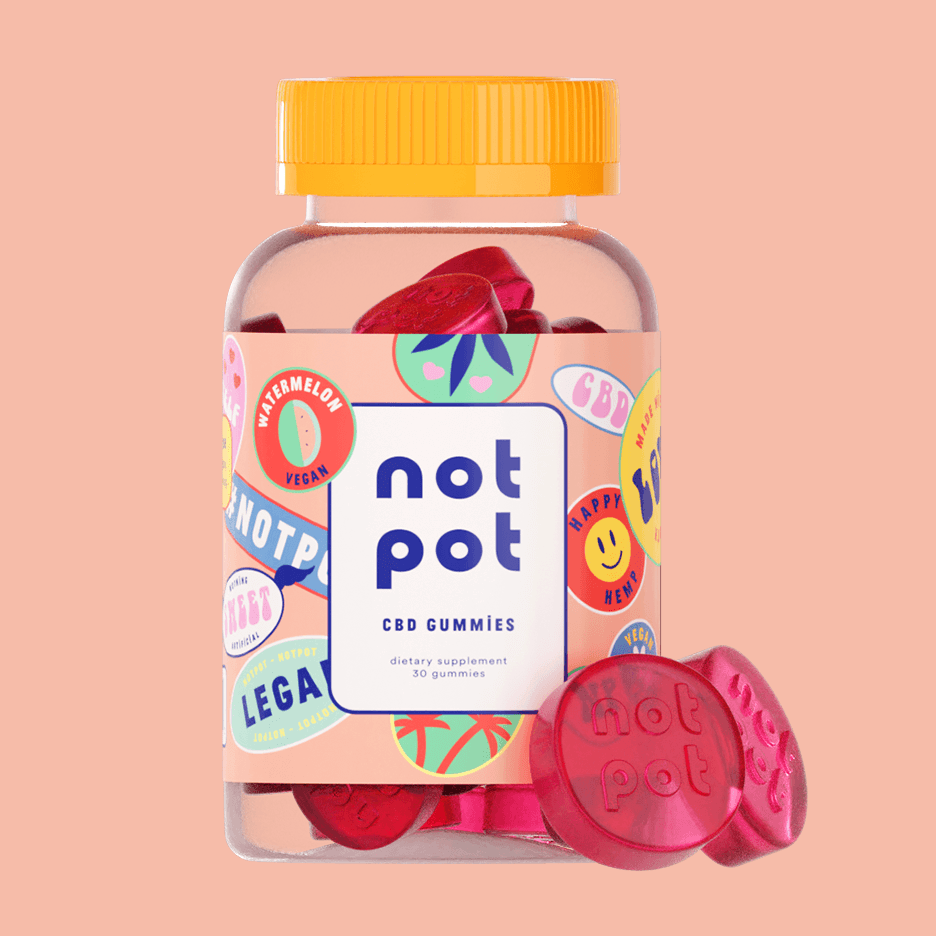 Not Pot Vegan CBD Gummies (Watermelon)