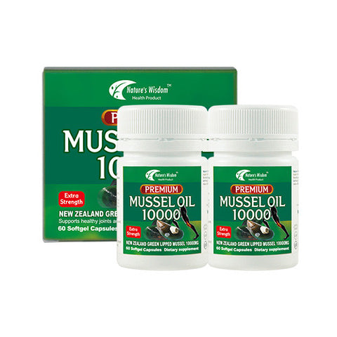 Nature's Wisdom Premium Mussel Oil 10000mg 60x2cap