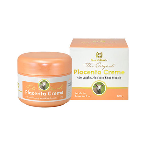 Nature's Beauty Placenta Creme with Lanolin, Aloe Vera&Bee Propolis 100g