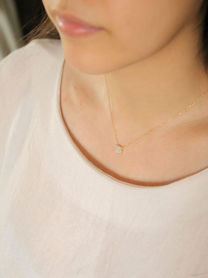 pave necklace