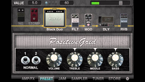 Jam Up Pro Guitar App - Amp View
