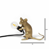 MOUSE LAMP GOLD