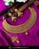 Antique Gold Finished Choker Johda Necklace Set  | Punjabi Traditional Jewellery Exclusive