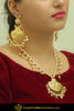 Haziqah Gold Finished Pearl Pippal Patti Necklace & Earrings | Punjabi Traditional Jewellery Exclusive