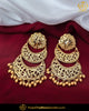 Gold Finished Pearl Jadau Earrings | Punjabi Traditional Jewellery Exclusive