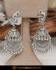 Afghan Silver Finished Oxidised Jhumki Earrings | Punjabi Traditional Jewellery Exclusive