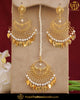 Gold Finished Pippal Patti Patra Earring Tikka Set | Punjabi Traditional Jewellery Exclusive