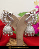 Silver Finished Oxidised Polki Jhumki Earrings | Punjabi Traditional Jewellery Exclusive