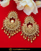 Gold Finished Polki Earrings | Punjabi Traditional Jewellery Exclusive