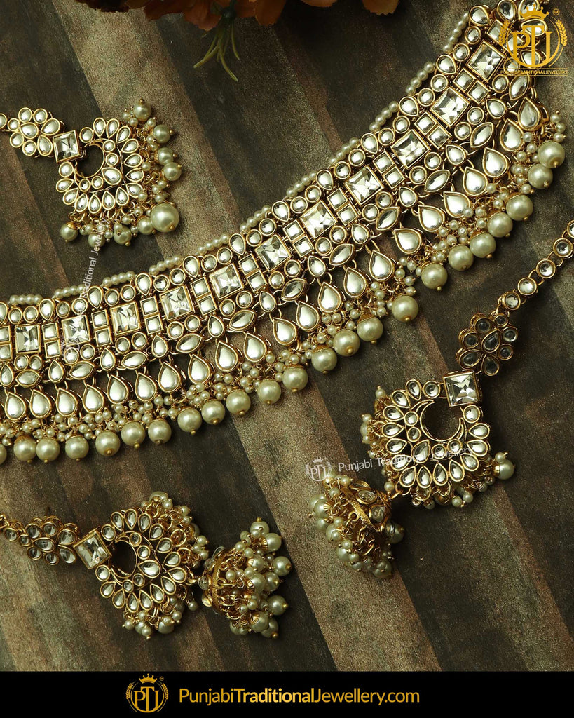 Gold Finished Kundan Choker Set | Punjabi Traditional Jewellery Exclusive
