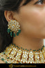 Chandon Emerald Kundan Only Earrings | Punjabi Traditional Jewellery Exclusive