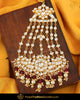 Gold Finished Rubby Kundan Pearl Passa | Punjabi Traditional Jewellery Exclusive