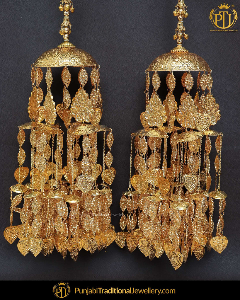 Antique Gold Pippal Patti Bridal Kalire | Punjabi Traditional Jewellery Exclusive