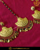 Gold Finished Emerald Pippal Patti Patra Earring Tikka Set | Punjabi Traditional Jewellery Exclusive