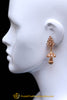 Red Antique Gold, Jhumki & Pearl Earrings By Punjabi Traditional Jewellery