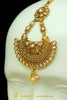 Golden Polki Earrings Tikka Set By Punjabi Traditional Jewellery