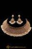 Antique Gold White Pearl Choker Necklace Set By Punjabi Traditional Jewellery